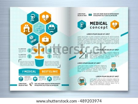 Design Medical Brochure Template A 4 Size Stock Vector (Royalty Free