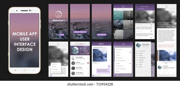 App Template Images, Stock Photos  Vectors Shutterstock - Free App Template