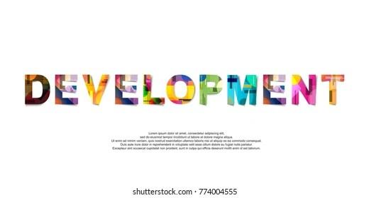 Marketing Word Creative Design Concept Modern Stock Vector (Royalty