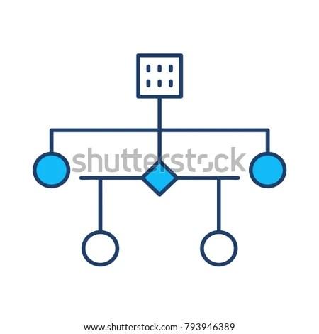 Diagram Hierarchy Network Stock Vector (Royalty Free) 793946389