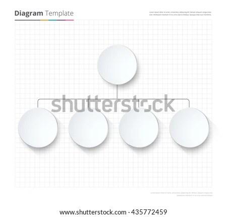 Diagram Template Organization Chart Template Flow Stock Vector