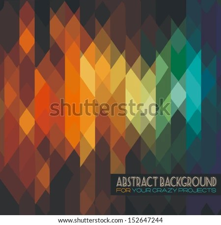 Disco Club Flyer Template Abstract Background Stock Vector (Royalty