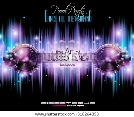 Disco Club Flyer Template Your Music Stock Vector (Royalty Free