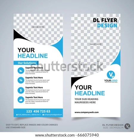 DL Flyer Design Template DL Corporate Stock Vector (Royalty Free