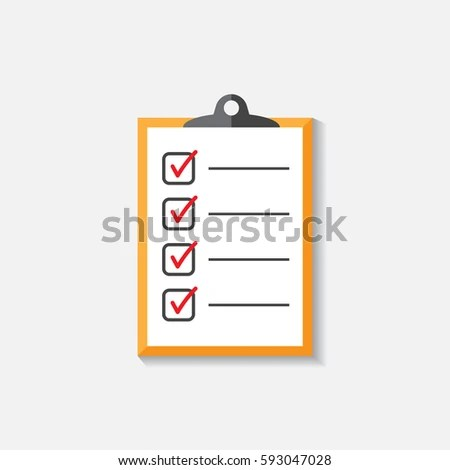 Do List Icon Checklist Task List Stock Vector (Royalty Free