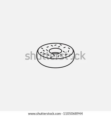 Donut Icon Template Design Stock Vector (Royalty Free) 1105068944