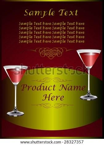 Drinks Menu Template Wine Glasses On Stock Vector (Royalty Free