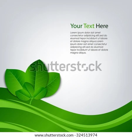 Eco Background Green Leaves Template Stock Vector (Royalty Free