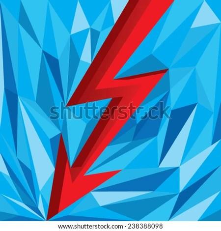 Electric Arrow Facet Design Stock Vector (Royalty Free) 238388098