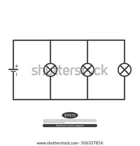 Electronic Symbols Learning Basic Electrical Circuits Stock Vector