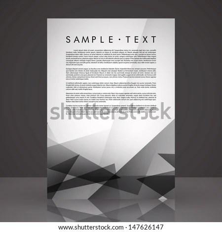 Elegant Black White Flyer Template EPS Stock Vector (Royalty Free