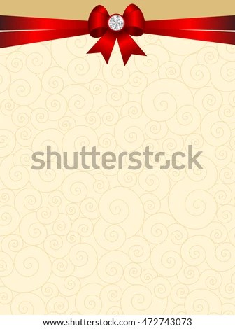 Elegant Wedding Invitation Card Background Red Stock Vector (Royalty