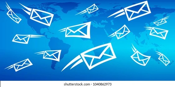 Email Background Concept Flying Mail SMS Stock Vector HD (Royalty - mail background