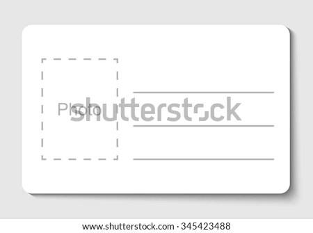Empty Blank ID Card Vector Illustration Stock Vector (Royalty Free