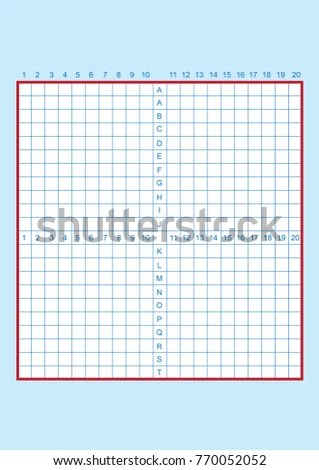 Engineering Graph Paper Printable Graph Paper Stock Vector (Royalty