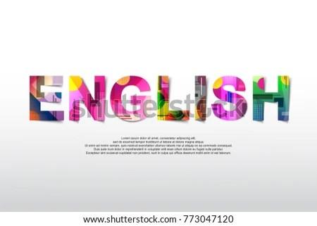 English Word Creative Design Concept Modern Stock Vector (Royalty