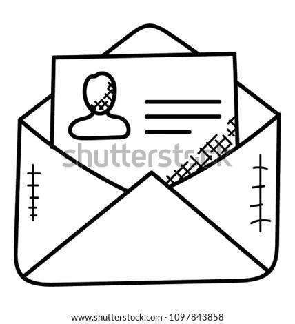 Envelope Having Resume Inside Stock Vector (Royalty Free) 1097843858