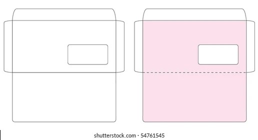Blank Envelope Template Images, Stock Photos  Vectors Shutterstock