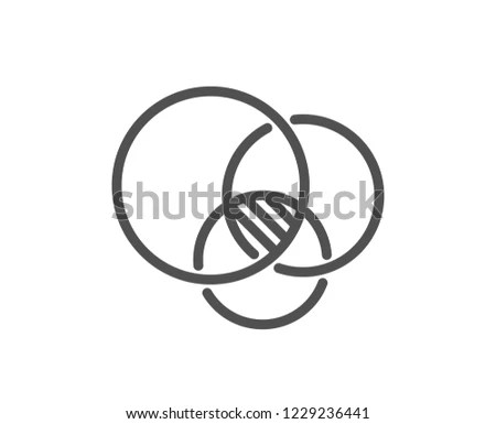 Euler Diagram Line Icon Eulerian Circles Stock Vector (Royalty Free