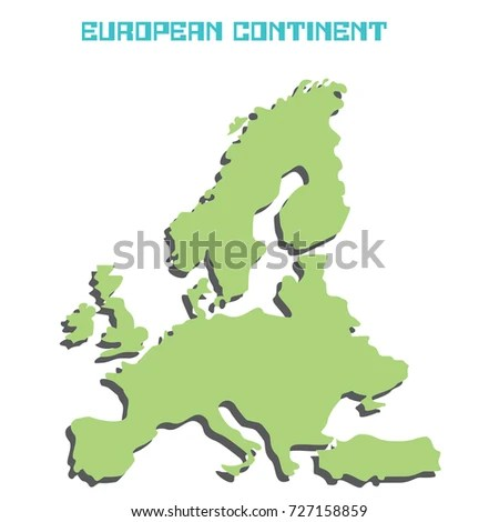 EUROPEAN CONTINENT Stock Vector (Royalty Free) 727158859 - Shutterstock