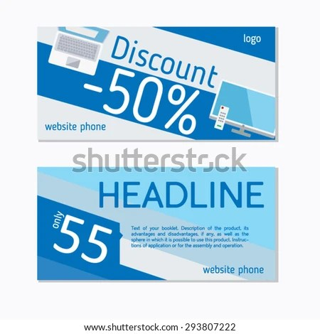 Example Flyer Discount Vector Graphics Stock Vector (Royalty Free