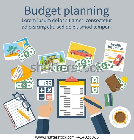 Family Budget Planning Concept Financial Accounting Stock Vector - family budget project