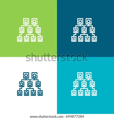 Family Tree Green Blue Material Color Stock Vector (Royalty Free