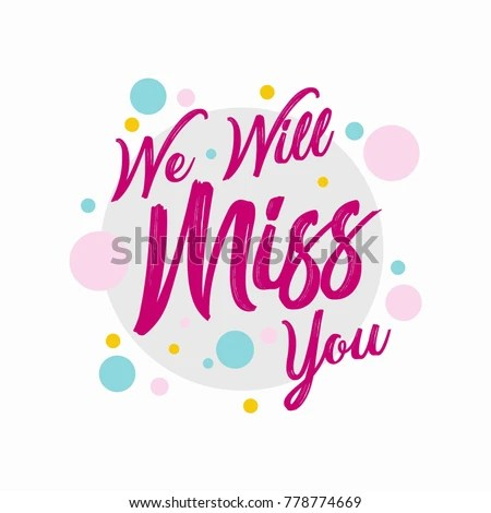 Farewell Party Template We Will Miss Stock Vector (Royalty Free