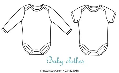baby onesie template Images, Stock Photos  Vectors Shutterstock