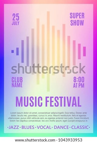 Festival Poster Music Flyer Carnival Design Stock Vector (Royalty