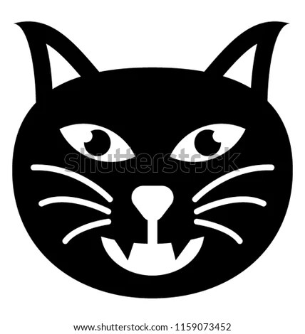 Filled Icon Cat Emoji Stock Vector (Royalty Free) 1159073452