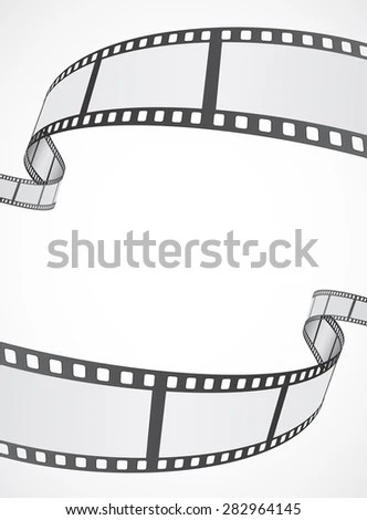 Film Reel Strip Abstract Frame Background Stock Vector (Royalty Free