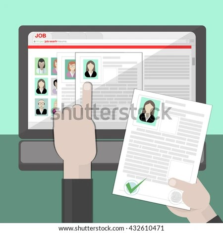 Find Resume Hiring Finding Staff On Stock Vector (Royalty Free