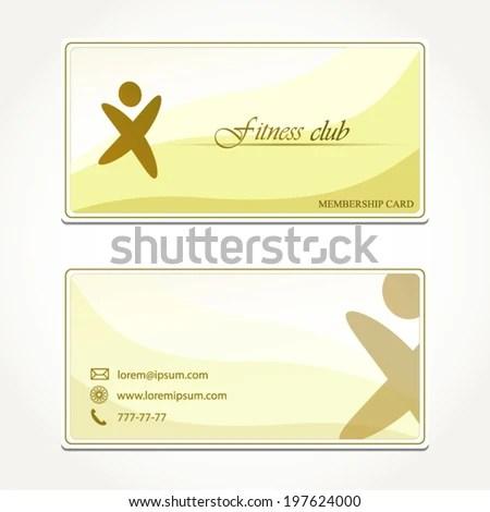 Fitness Club Membership Card Concept Design Stock Vector (Royalty