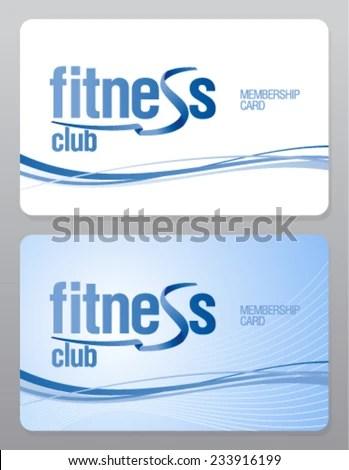Fitness Club Membership Card Design Template Stock Vector (Royalty