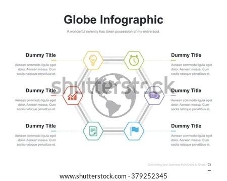 Flat Business Presentation Vector Slide Template Stock Vector