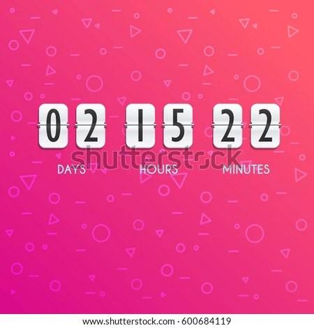 Flip Countdown Timer Vector Clock Counter Stock Vector (Royalty Free