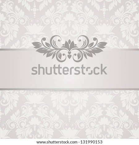 Floral Background Wedding Card Invitation Abstract Stock Vector