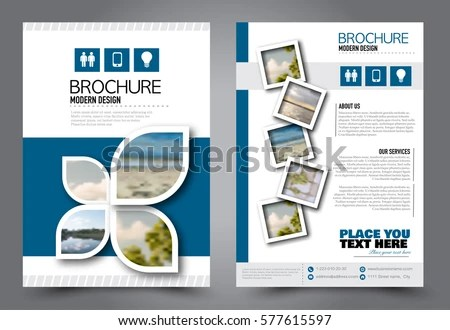 Flyer Design Business Brochure Template Annual Stock Vector (Royalty