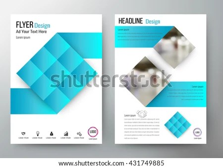Flyer Design Layout Template Vector Brochure Stock Vector (Royalty
