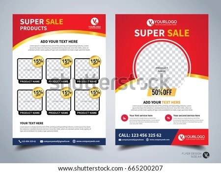 Flyer Design Template Vector Business Flyer Stock Vector (Royalty