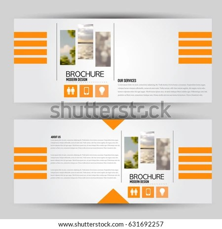 Flyer Template Banner Web Header Set Stock Vector (Royalty Free