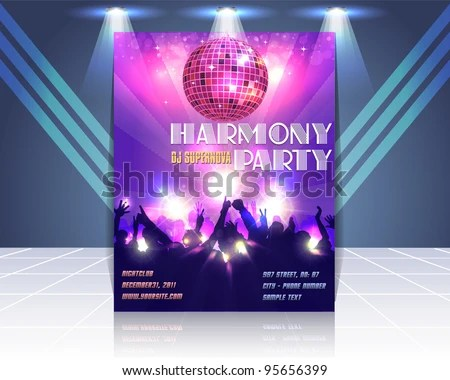 Flyer Template Vector Stock Vector (Royalty Free) 95656399