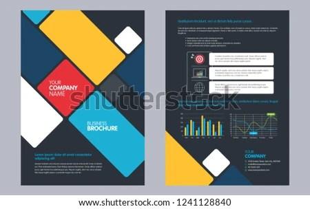 Flyers Design Template Business Brochure Flyer Stock Vector (Royalty
