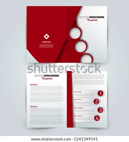 Fold Brochure Template Flyer Background Design Stock Vector (Royalty