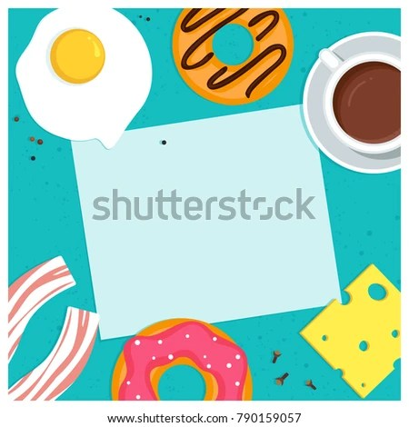 Food Card Template Vector Illustration Stock Vector (Royalty Free