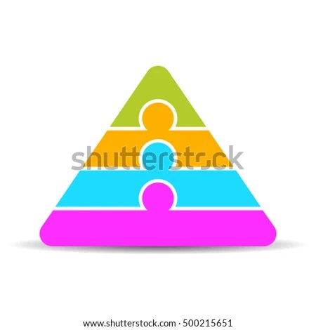 Four Layers Pyramid Diagram Vector Illustration Stock Vector