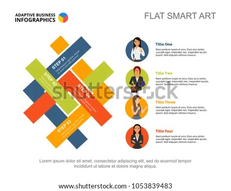 Four Options Process Chart Slide Template Stock Vector (Royalty Free