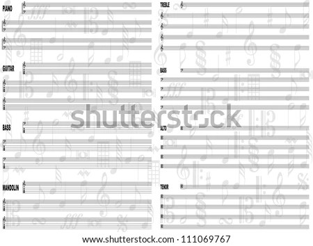 Free Staff Paper Background Stock Vector (Royalty Free) 111069767