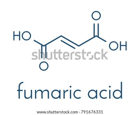 Fumaric Acid Molecule Found Bolete Mushrooms Stock Vector (Royalty